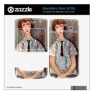 Girl with blouse by Amedeo Modigliani BlackBerry Decals