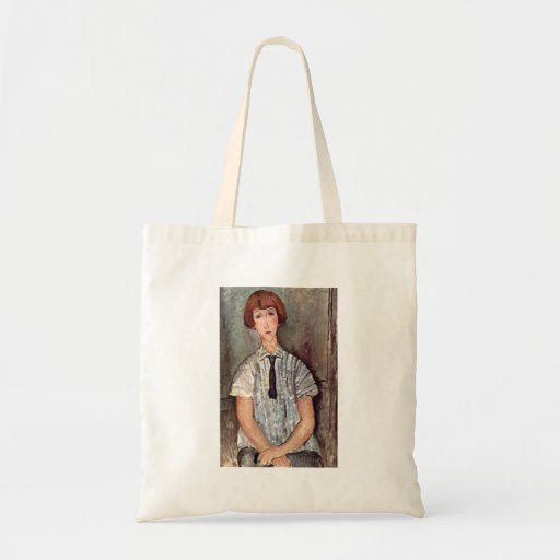 Girl with blouse by Amedeo Modigliani Tote Bags