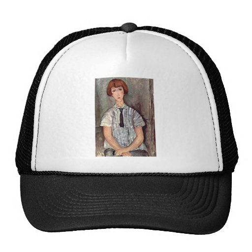 Girl with blouse by Amedeo Modigliani Trucker Hat