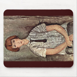 Girl With Blouse By Modigliani Amedeo Mousepad