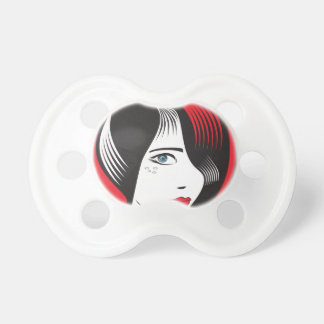 Girl witH BLUE EYES Baby Pacifiers