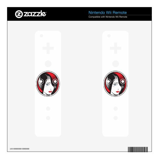 GIRL WITH BLUE EYES NINTENDO WII REMOTE SKINS
