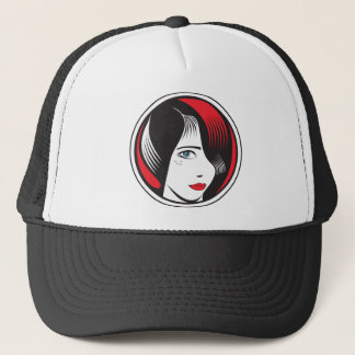 GIRL WITH BLUE EYES TRUCKER HAT