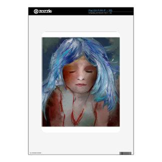 Girl with Blue Hair iPad Decal