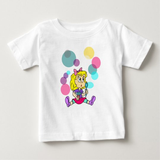 Girl with bubbles baby T-Shirt