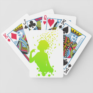 Girl with butterflies 2 bicycle playing cards