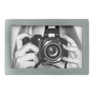 Girl with camera belt buckle
