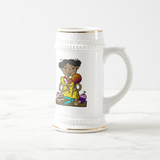 Girl With Candy and Cakes Beer Stein