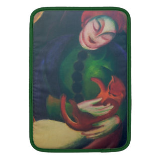 Girl With Cat II by Franz Marc MacBook Air Sleeve