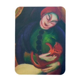 Girl With Cat II by Franz Marc Magnet