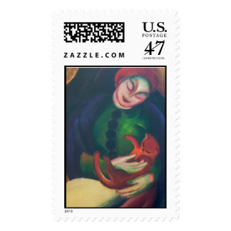 Girl With Cat II by Franz Marc Postage