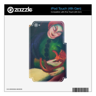 Girl With Cat II by Franz Marc Skins For iPod Touch 4G