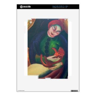 Girl With Cat II by Franz Marc Skins For The iPad 2