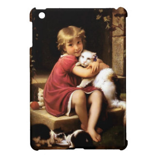 Girl with Cat Pets painting iPad Mini Case