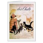 Girl with Cats, Alexandre Steinlen Greeting Cards