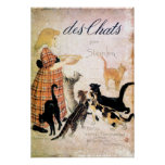 Girl with Cats, Alexandre Steinlen Posters