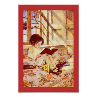 Girl with Children s Books Jessie Willcox Smith Print