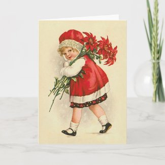 Ellen H. Clapsaddle: Girl with Christmas Flowers