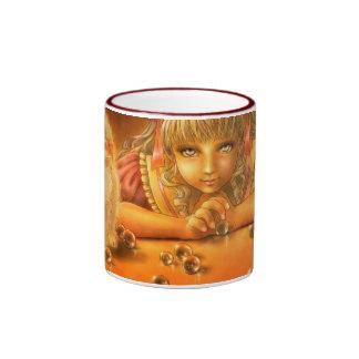 Girl with Creepy Eyes Dark Fantasy Mug