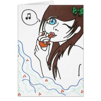 Girl with Cupcake Greeting Card