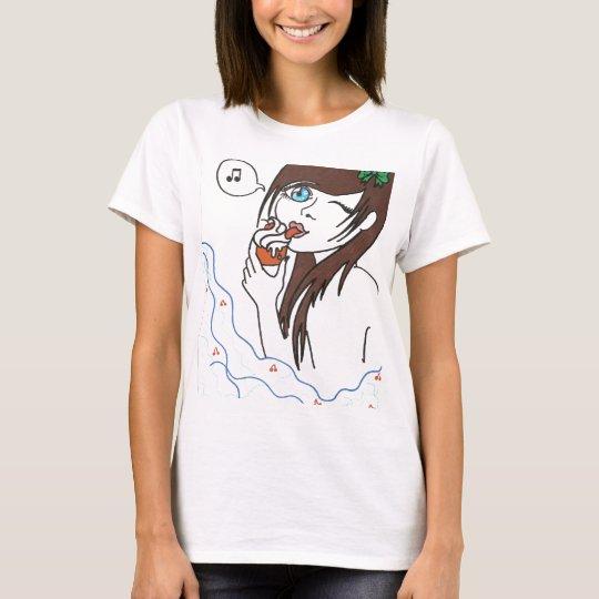 Girl with Cupcake T-Shirt