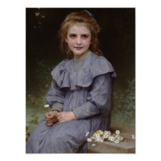 Girl with Daisies Print