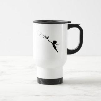 Girl with Dandelion Travel Mug