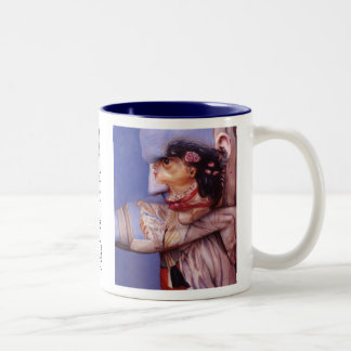 Girl With Dog in Window Mug