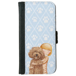 iPhone 6 Wallet Case with Labradoodle Phone Cases design