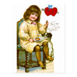 Girl with Dog Post Cards