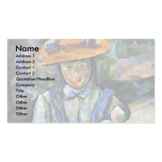 Girl With Doll By Paul Cézanne (Best Quality) Business Card Template