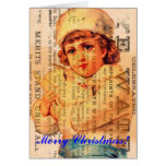 Girl With Dove Advertisement Digital Art, Christma Greeting Cards