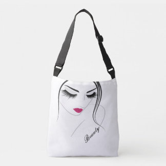 Girl with Eyelashes and Lips - Cross Body Bag
