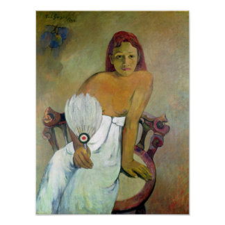 Girl with fan, 1917 poster