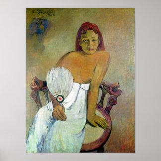 Girl with fan 1917 print