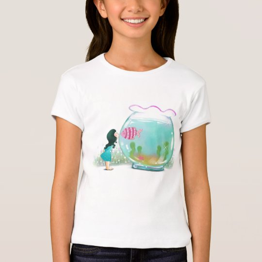 Girl with Fish Bowl Shirt