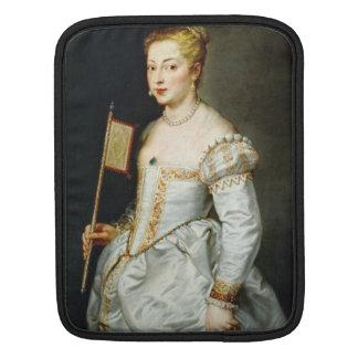 Girl with flag Peter Paul Rubens  oil portrait iPad Sleeve