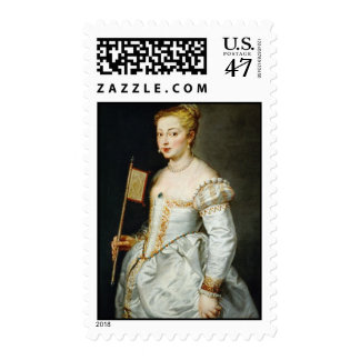 Girl with flag Peter Paul Rubens  oil portrait Stamp