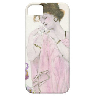 Girl with Flower Art Nouveau iPhone 5 Cover