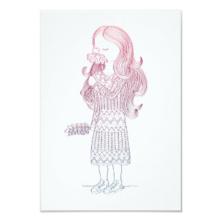 Girl with flower card