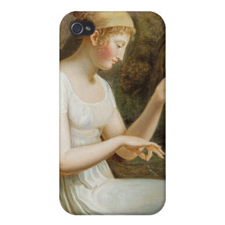 Girl with Flowers iPhone 4 Case