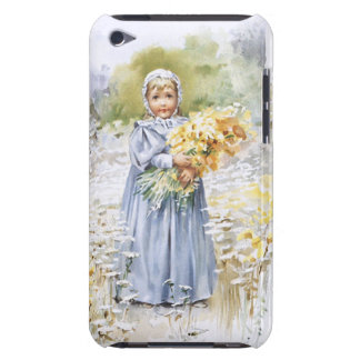Girl with Flowers iPod Case-Mate Case