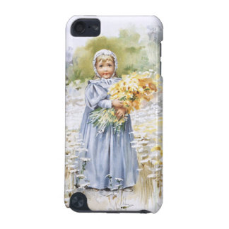 Girl with Flowers iPod Touch (5th Generation) Case