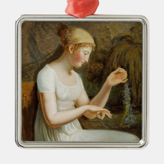 Girl with Flowers Ornaments
