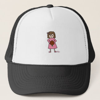 Girl with Flowers Trucker Hat