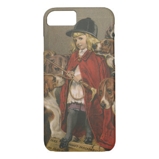 Girl with Foxhounds iPhone 7 Case