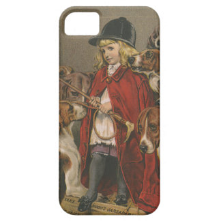 Girl with Foxhounds iPhone SE/5/5s Case