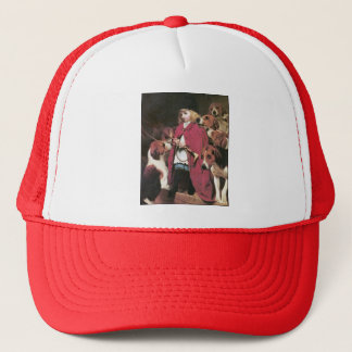 Girl with Foxhounds Vintage Art - by C. Barber Trucker Hat