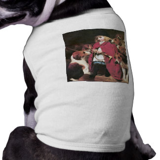 Girl with Foxhounds - Vintage Art - Charles Barber Dog T Shirt