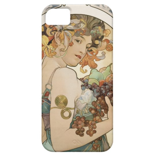 Girl with fruit - Mucha iPhone SE/5/5s Case